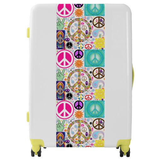 Peace & Paisley Collage Luggage