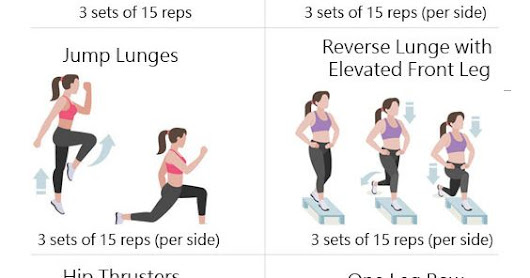30 Minute Exercises to Make your Bum Bigger - Workouts for Women