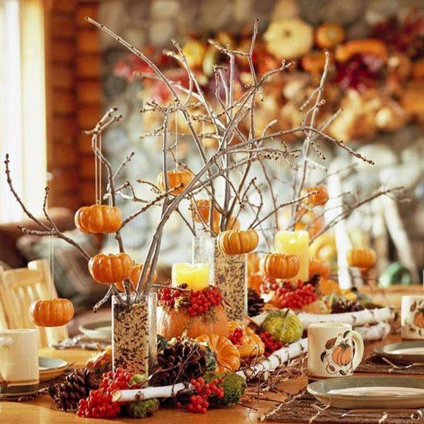 Amazing Golden Thanksgiving Table Decorations   Minimalisti.