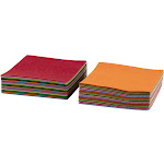 Juvale Felt Sheet - 60-Pack Felt Fabric Sheet for DIY Art Crafts, Patchwork Sewing Supplies, 20 Assorted Colors, 3 of Each Color, 7.8 x 7.8 Inches, 20 x 20