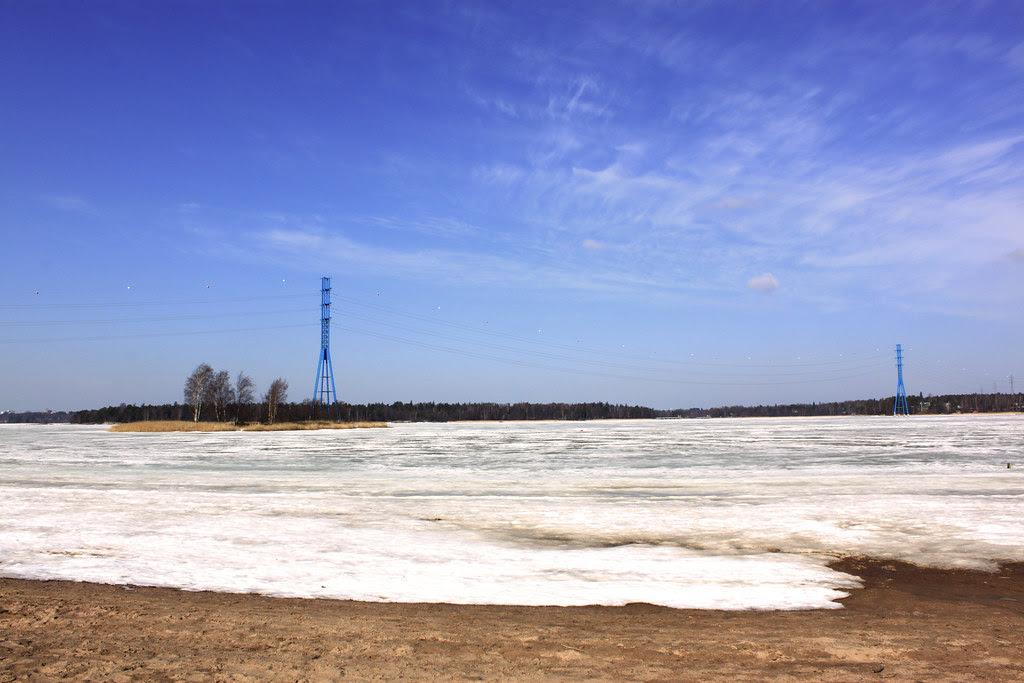 Cielo azul, mar de hielo