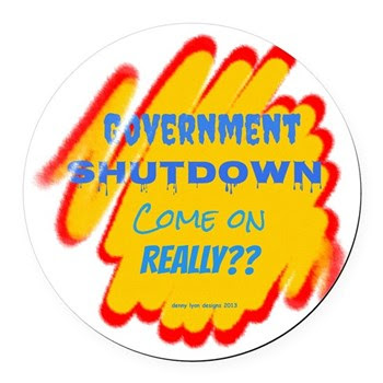 Government Shutdown Round Car Magnet