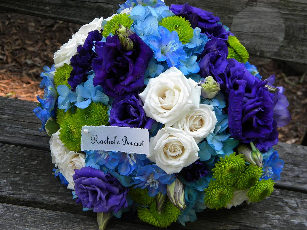 Wedding Flowers Blue Green Flowers Wedding