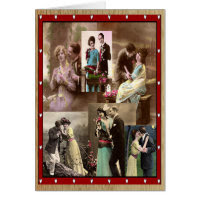 Vintage Valentine Couples in Love Card