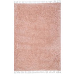 Luxe Shag 9' x 12' Pink Shag Solid With Tassels Rug - RugsUSA