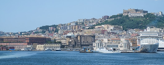 Naples From The Sea by Bonnie Alberts