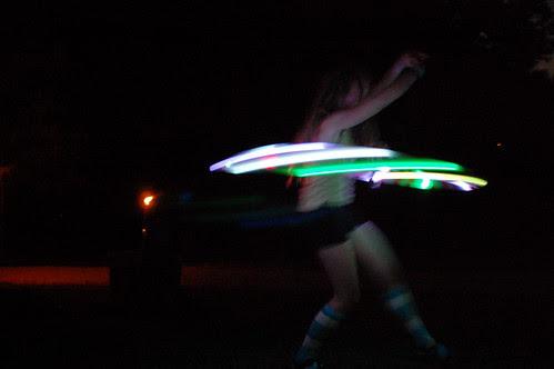 Lighted Hoop Dancing