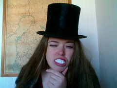 Stello, top hat & webcam..
