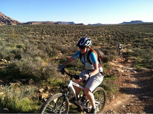 biking hill