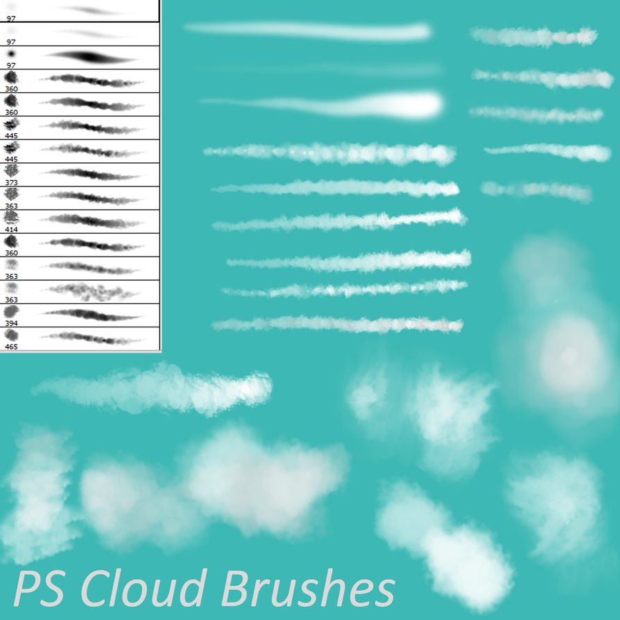 Free Photoshop Brush Sets PS Cloud Brushes