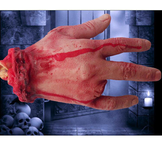 Halloween 4 Fingers Horror Props Bloody Hand Haunted House Scary Hand Decoration