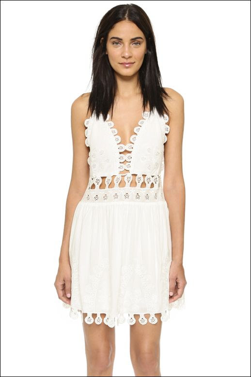 Le Fashion Blog Under 100 Cut Out White Dress Chloe SS 2015 Budget Friendly Summer Style
