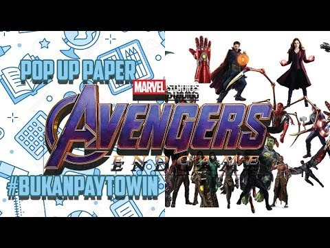 Cara membuat Kerajinan Tangan Avangers End Game Assemble | Pop Up 3D