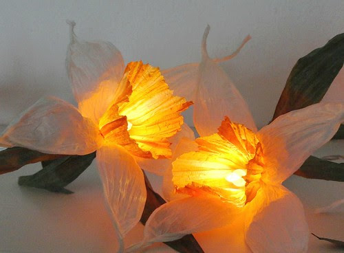 Paper Yarn Daffodil String Lights