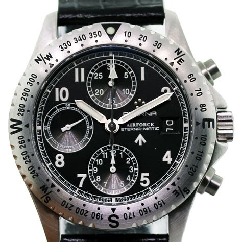 eterna chrono airforce  chronograph mens