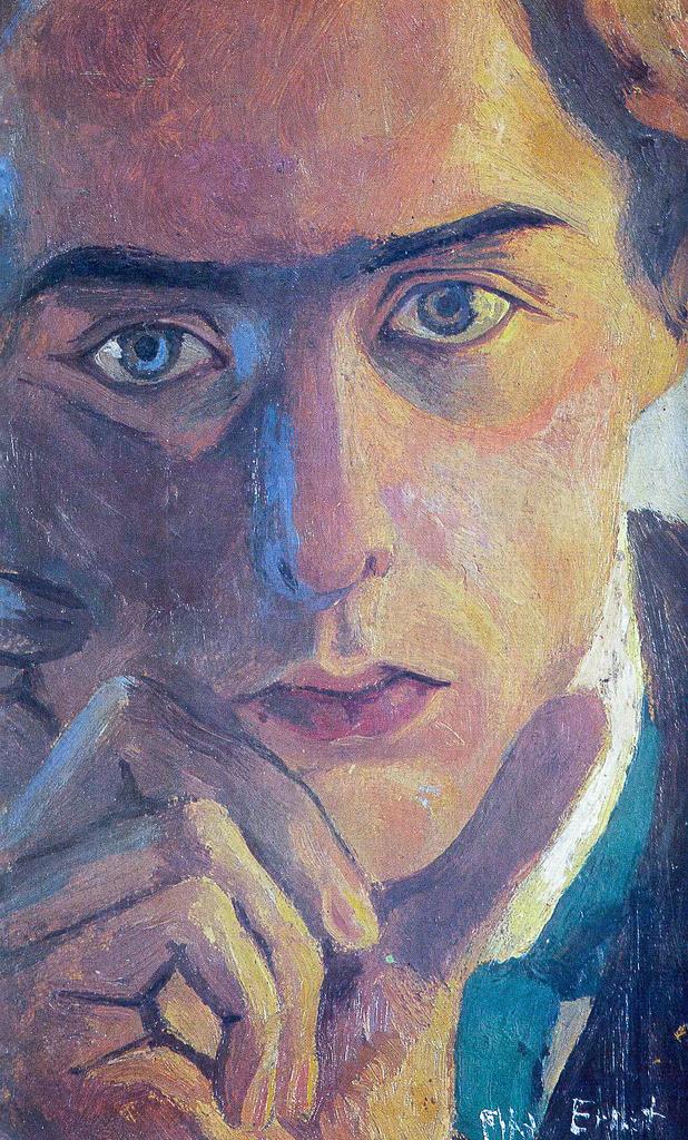 agathasattic:  Max Ernst, Self-portrait, 1909