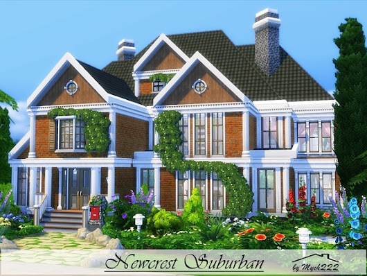 Newcrest Suburban by MychQQQ at TSR » Sims 4 Updates