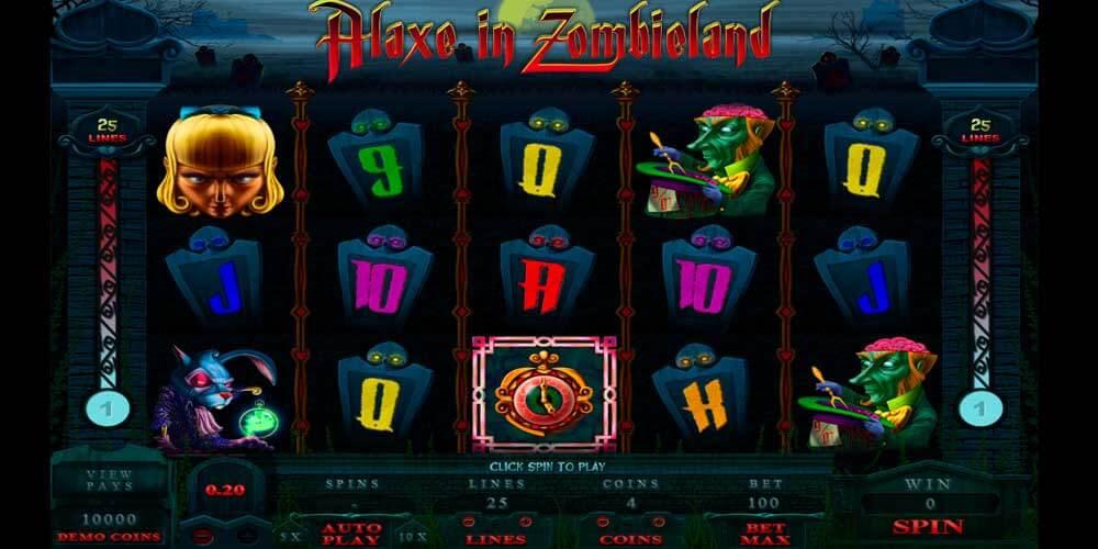 Игровой автомат Alaxe in Zombieland – известный в сети Интернет онлайн слот.Запустите барабаны виртуального аппарата и познакомьтесь со страшными зомби, живущими на кладбище.5/5(1).
