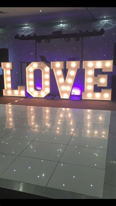 Light Up Led Love Letters HIRE in Home, Furniture & DIY