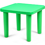 """Gymax Kids Portable Plastic 24"""" Square Table Play&Learn Activity School Home Green New"""