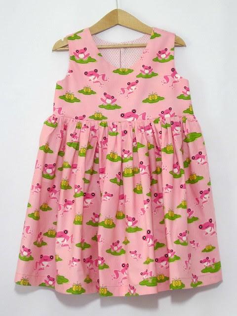 pink frog dress