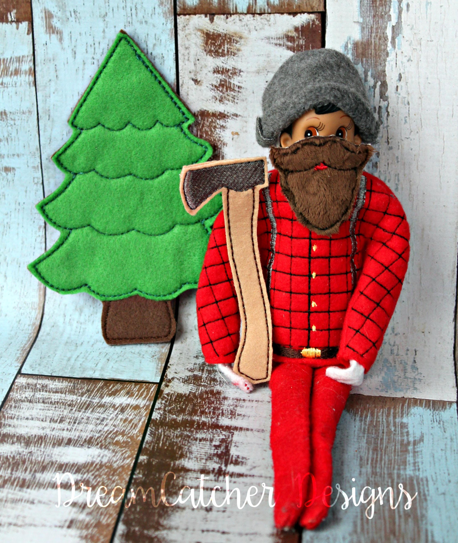 In The Hoop Lumberjack Bundle Set Elfdoll Christmas Embroidery