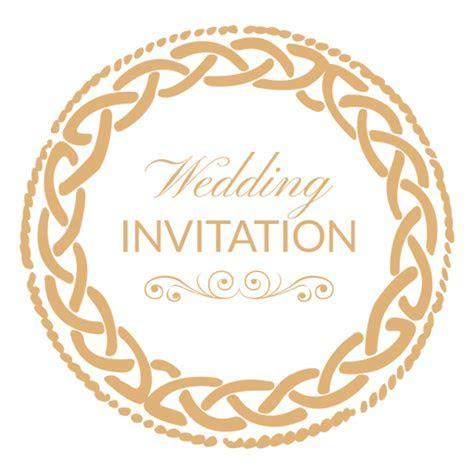 Round wedding invitation label 1   Transparent PNG & SVG