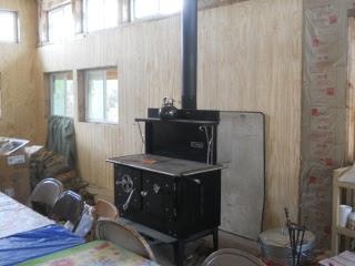 House Kitchen Siding, North Wall