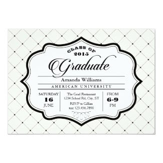 Elegant Vintage Ornate Graduation Invitation