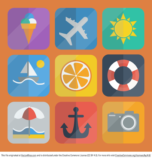 Summer Icons Pack - Free Vector Art