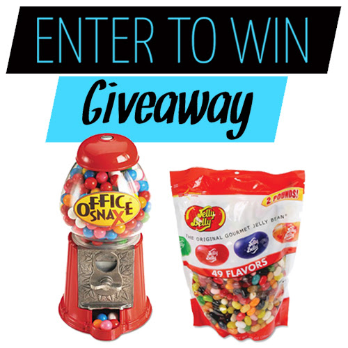 Win a Bag of Office Snax Jelly Belly Candies and Candy Dispenser | Shoplet