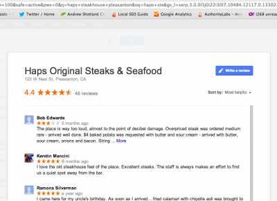 Google+ Local Reviews Now Showing as SERP Pop-Ups - Goodbye Google+ Local Pages? - Local SEO Guide