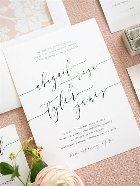 Clean, Simple, Elegant Wedding Invitations from Shine