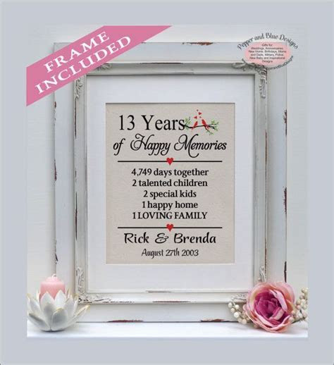 61 best Anniversary Gifts images on Pinterest   Birthday