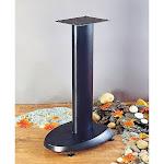 VTI VSP24B Cast Iron Speaker Stands (24 inch Black)