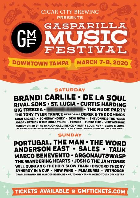 Gasparilla Music Festival Sets Daily Lineup: Brandi Carlile, De La Soul, Portugal. The Man, Marco Benevento and More