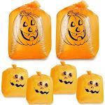 Juvale Pumpkin Leaf Bag - Small and Medium Sized Pumpkin Trash Bags - The Perfect Fall Lawn Decoration, Orange