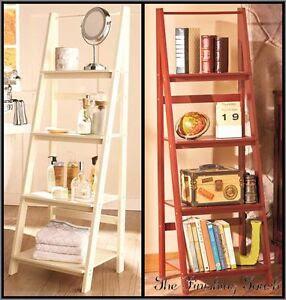 Wooden Ladder Shelf OR/AND Metal Baskets Bathroom Kitchen ...