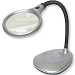 Carson Optical LM-20 DeskBrite 200 LED Magnifier Desk Lamp, Gray/Black