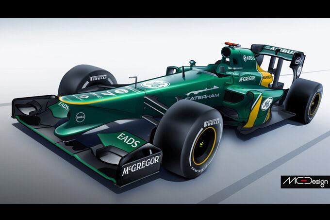 Formula 1 - Estudo - Caterham 2014
