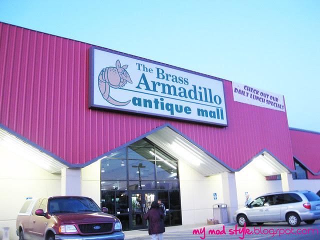 Brass Armadillo Store Sign