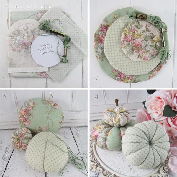 DIY: lindas abobadinhas de tecido gasto para fazer outono / outono.  Clique para o tutorial completo ou PIN para mais tarde.