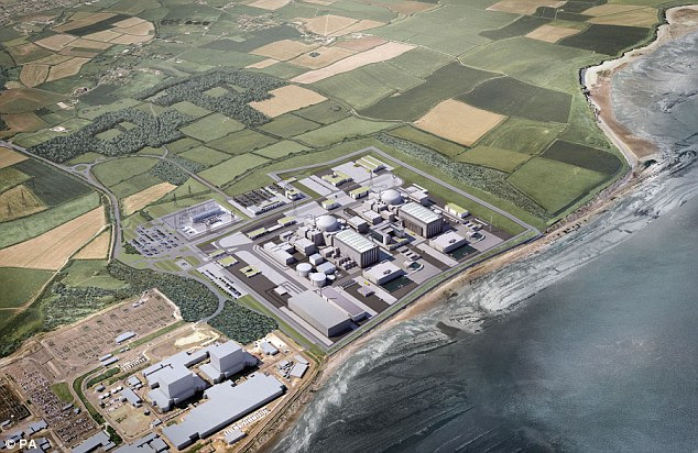 China  is putting up some of the cost of our new nuclear reactor at Hinkley Point (pictured: artist's impression)