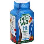 VitaFusion Fiber Well Weight Management Gummies, Peach/Strawberry/Berry - 90 count bottle