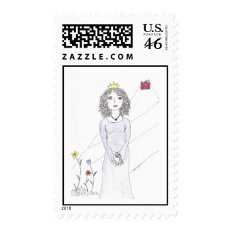 The Queen of the Stamps stamp