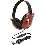 Listening First Animal-Themed Stereo Headphones Bear - Califone International
