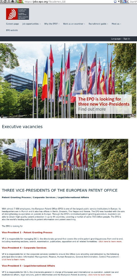 EPO replacing VPs