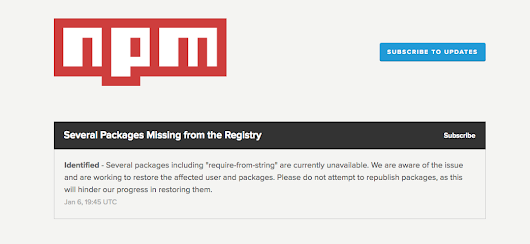 Many packages suddenly disappeared · Issue #255 · npm/registry