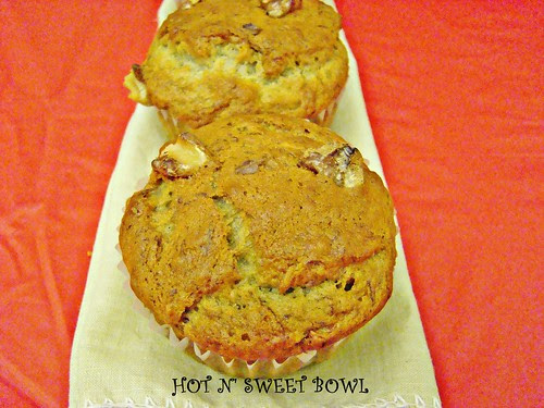 Eggless Banana Nut Muffins