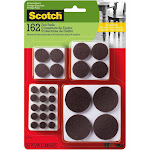3M SP847-NA Scotch Felt Pads, Brown, 162/ Pack